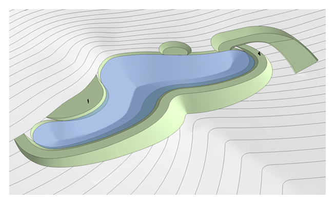 Проект пруда 2000 м2 по принципу пермакультуры Зеппа Хольцера
