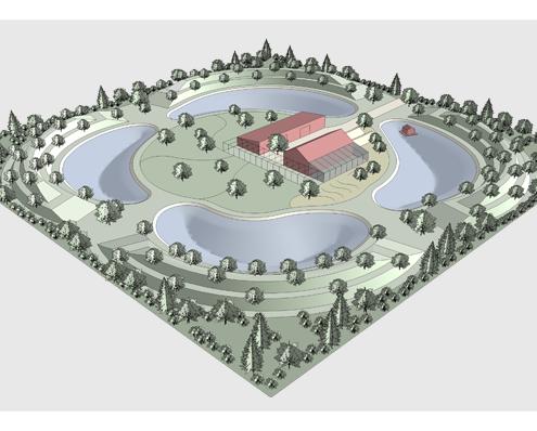 Пермакультурное поместье на одном гектаре в соответствии с принципами пермакультуры Зеппа Хольцера