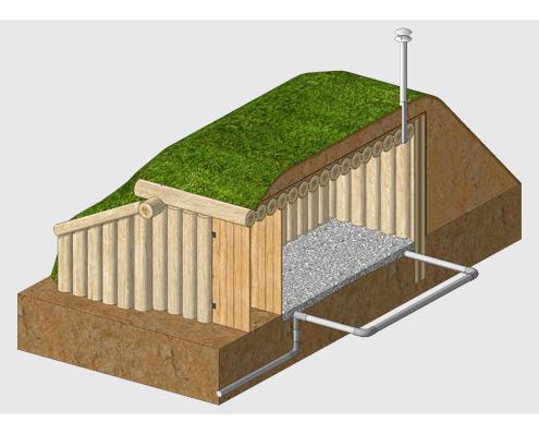 Проект насыпного хранилище по Зеппу Хольцеру