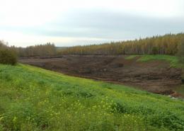 Фото 4. Искусственный пруд без строительных матералов. Грунтовый пруд без бетона и плёнки.