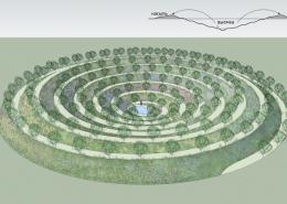 Кратерный сад - один из основных элементов пермакультуры Хольцера