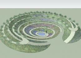 Кратерный сад - базовый элемент пермакультуры Хольцера