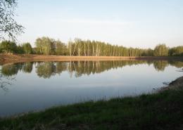 Фото5. Искусственный пруд без строительных матералов. Грунтовый пруд без бетона и плёнки.