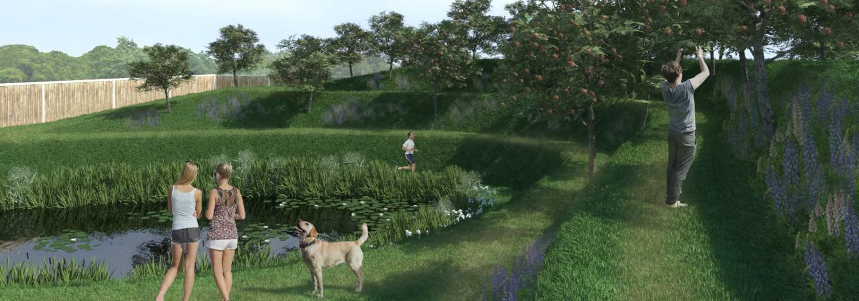 Эко-пруд без бетона и пленки, а так же земляной вал с дорожками и садом. Можно построить Своими руками по проекту от бюро Землематика!